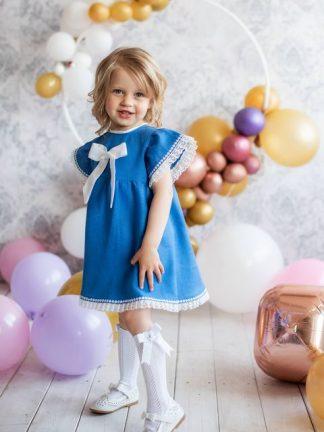 Lininės suknelės mergaitėms