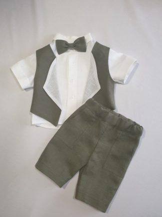 Lininiai kostiumai berniukams